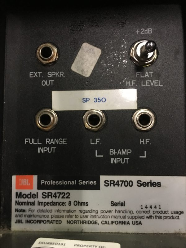 JBL SR4722 HF DRIVERS FOR WINDOWS VISTA
